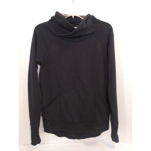 Athleta Black Cowl Neck Sweatshirt